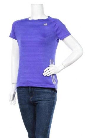 Γυναικείο t-shirt Adidas, Μέγεθος M, Χρώμα Βιολετί, Τιμή 11,82€
