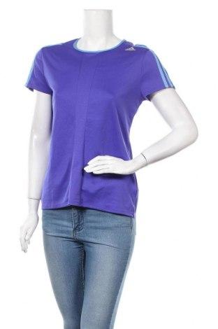 Γυναικείο t-shirt Adidas, Μέγεθος M, Χρώμα Μπλέ, Πολυεστέρας, Τιμή 14,55€