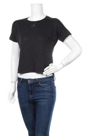 Дамска тениска Adidas, Размер L, Цвят Черен, 50% полиестер, 25% памук, 25% вискоза, Цена 27,93лв.