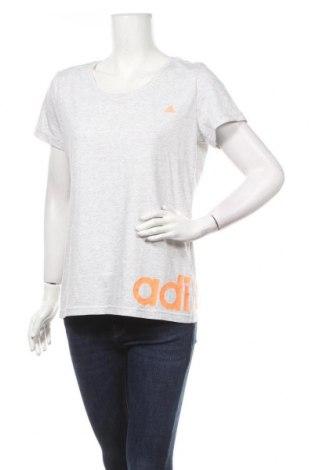 Γυναικείο t-shirt Adidas, Μέγεθος XL, Χρώμα Γκρί, 70% βαμβάκι, 30% πολυεστέρας, Τιμή 16,01€