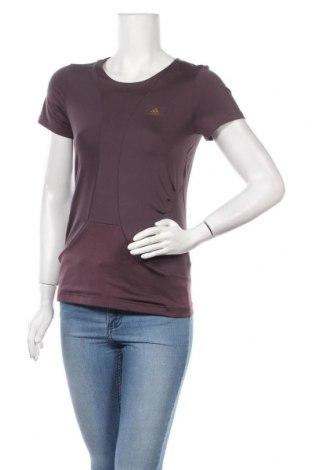 Дамска тениска Adidas, Размер M, Цвят Лилав, 82% полиестер, 18% еластан, Цена 21,95лв.