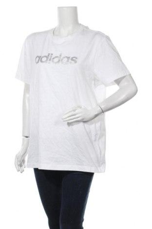 Дамска тениска Adidas, Размер M, Цвят Бял, Памук, Цена 51,75лв.