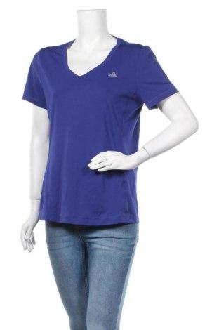 Дамска тениска Adidas, Размер L, Цвят Син, Цена 23,52лв.
