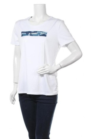 Дамска тениска Adidas, Размер XL, Цвят Бял, Полиестер, Цена 51,75лв.