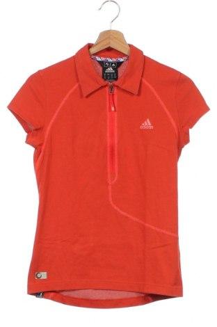 Γυναικείο t-shirt Adidas, Μέγεθος XS, Χρώμα Πορτοκαλί, 64% βαμβάκι, 36% πολυεστέρας, Τιμή 14,55€