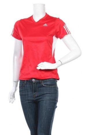 Дамска тениска Adidas, Размер S, Цвят Червен, Полиестер, Цена 13,86лв.