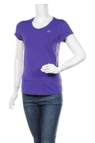 Γυναικείο t-shirt Adidas, Μέγεθος M, Χρώμα Βιολετί, 82% πολυεστέρας, 18% ελαστάνη, Τιμή 10,72€