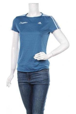 Γυναικείο t-shirt Adidas, Μέγεθος S, Χρώμα Μπλέ, Πολυεστέρας, Τιμή 16,05€