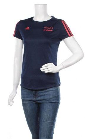 Γυναικείο t-shirt Adidas, Μέγεθος S, Χρώμα Μπλέ, Τιμή 12,67€