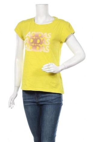 Γυναικείο t-shirt Adidas, Μέγεθος S, Χρώμα Πράσινο, Τιμή 11,69€