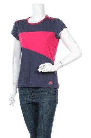 Дамска тениска Adidas, Размер L, Цвят Син, Полиестер, Цена 26,25лв.