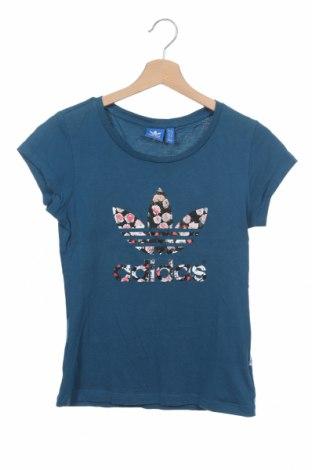 Γυναικείο t-shirt Adidas Originals, Μέγεθος XS, Χρώμα Μπλέ, Βαμβάκι, Τιμή 16,70€