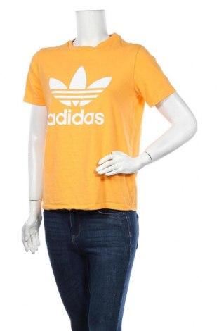 Дамска тениска Adidas Originals, Размер M, Цвят Жълт, 95% памук, 5% еластан, Цена 26,88лв.