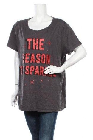 Дамска тениска Anko, Размер XXL, Цвят Сив, 60% памук, 40% полиестер, Цена 10,71лв.