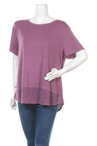 Дамска тениска Anko, Размер XXL, Цвят Лилав, 64% модал, 28% полиестер, 8% еластан, Цена 17,85лв.