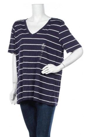 Дамска тениска Avella, Размер XXL, Цвят Син, Памук, Цена 26,46лв.