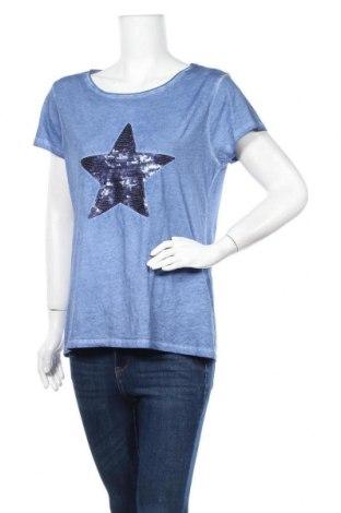 Дамска тениска Blue Motion, Размер M, Цвят Син, Памук, Цена 24,99лв.