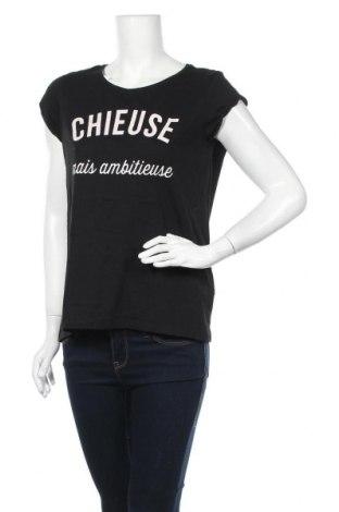 Γυναικείο t-shirt Cache Cache, Μέγεθος M, Χρώμα Μαύρο, 60% βαμβάκι, 40% πολυεστέρας, Τιμή 9,74€