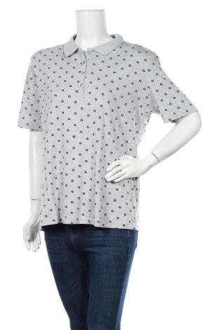 Дамска тениска Canda, Размер L, Цвят Сив, 95% памук, 5% еластан, Цена 8,03лв.