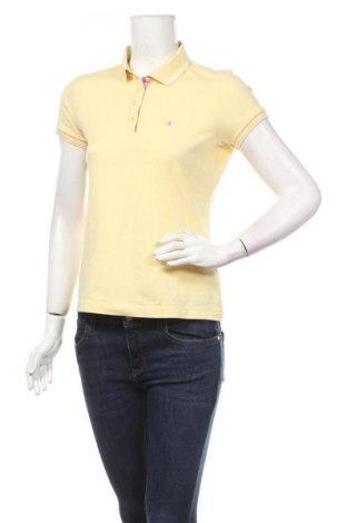 Дамска тениска Champion, Размер M, Цвят Жълт, 52% памук, 48% полиестер, Цена 8,93лв.