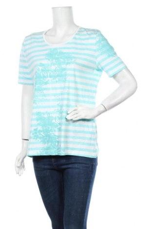 Дамска тениска Clarina Collection, Размер XL, Цвят Син, Памук, Цена 14,28лв.
