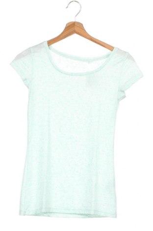 Дамска тениска Clockhouse, Размер XS, Цвят Зелен, 88% полиестер, 7% лен, 5% еластан, Цена 3,94лв.