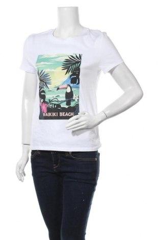 Дамска тениска Clockhouse, Размер S, Цвят Бял, Памук, Цена 9,24лв.