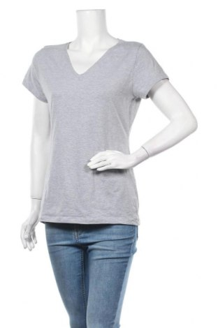 Дамска тениска Clothing & Co, Размер L, Цвят Сив, 84% памук, 12% полиестер, 4% еластан, Цена 6,72лв.