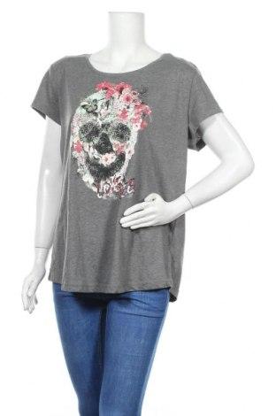 Дамска тениска Colours Of The World, Размер XL, Цвят Сив, 63% полиестер, 37% памук, Цена 15,75лв.