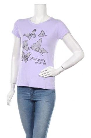 Дамска тениска Cosma, Размер S, Цвят Лилав, 95% памук, 5% еластан, Цена 16,96лв.