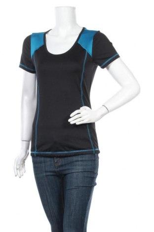 Дамска тениска Crivit, Размер M, Цвят Черен, 88% полиестер, 12% еластан, Цена 9,24лв.
