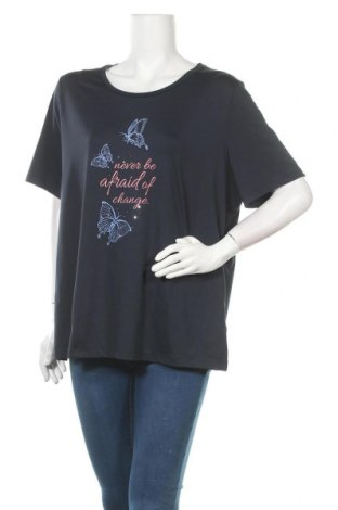 Γυναικείο t-shirt Crivit, Μέγεθος XXL, Χρώμα Μπλέ, 90% πολυεστέρας, 10% ελαστάνη, Τιμή 9,74€