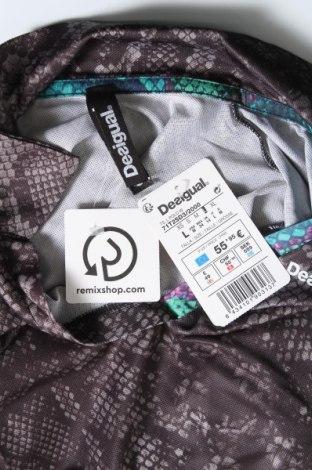 Дамска тениска Desigual, Размер L, Цвят Сив, 97% полиестер, 3% еластан, Цена 42,72лв.