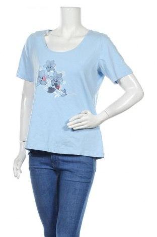 Дамска тениска Esmara, Размер L, Цвят Син, 95% памук, 5% еластан, Цена 14,96лв.