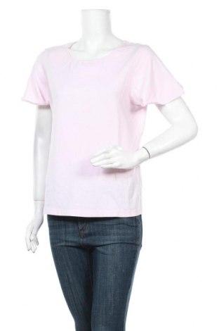 Дамска тениска Essentials by Tchibo, Размер M, Цвят Розов, 58% памук, 39% вискоза, 3% еластан, Цена 15,96лв.
