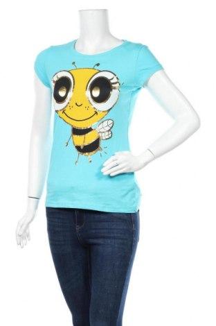 Γυναικείο t-shirt Fishbone, Μέγεθος M, Χρώμα Μπλέ, 92% βαμβάκι, 8% ελαστάνη, Τιμή 11,04€