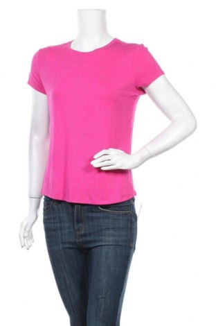 Дамска тениска George, Размер L, Цвят Розов, 93% вискоза, 5% еластан, 2% полиестер, Цена 14,28лв.