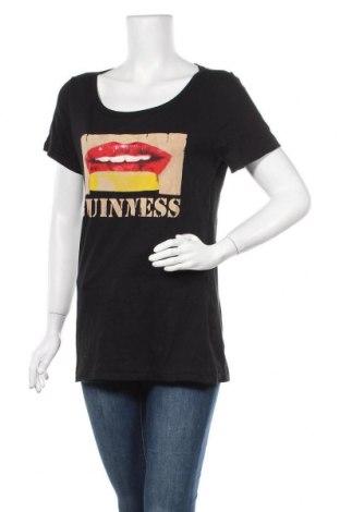 Дамска тениска Guinness, Размер L, Цвят Черен, Памук, Цена 17,01лв.