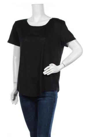 Дамска тениска H&M, Размер M, Цвят Черен, 50% памук, 50% модал, Цена 14,96лв.