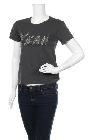 Дамска тениска H&M, Размер XS, Цвят Сив, Памук, Цена 7,14лв.