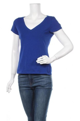 Дамска тениска H&M, Размер M, Цвят Син, 95% памук, 5% еластан, Цена 13,65лв.