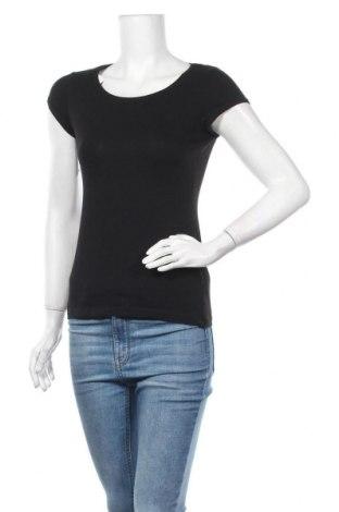 Дамска тениска H&M L.O.G.G., Размер M, Цвят Черен, Памук, Цена 9,45лв.