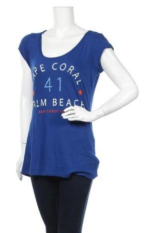 Дамска тениска H&M L.O.G.G., Размер L, Цвят Син, Цена 16,80лв.