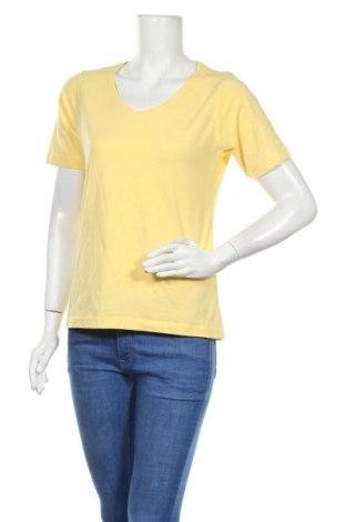 Дамска тениска Infinity, Размер L, Цвят Жълт, 95% памук, 5% еластан, Цена 5,36лв.