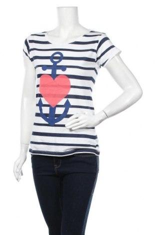 Γυναικείο t-shirt Inside, Μέγεθος L, Χρώμα Μπλέ, Βαμβάκι, Τιμή 11,69€
