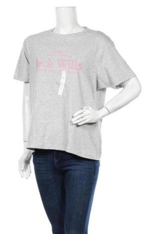Дамска тениска Jack Wills, Размер XL, Цвят Сив, 95% памук, 5% вискоза, Цена 20,67лв.
