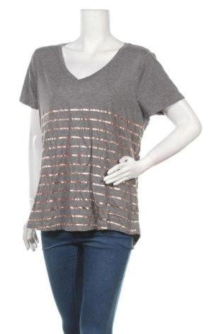 Дамска тениска Just Jeans, Размер XL, Цвят Сив, 65% полиестер, 35% памук, Цена 18,90лв.
