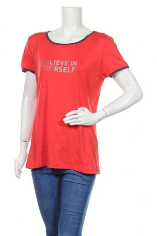 Дамска тениска K Tec, Размер L, Цвят Червен, 94% полиестер, 6% еластан, Цена 4,46лв.