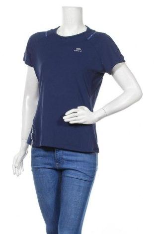 Дамска тениска Kalenji, Размер XL, Цвят Син, 82% полиестер, 18% еластан, Цена 20,79лв.