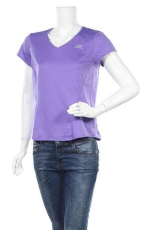 Дамска тениска Kalenji, Размер M, Цвят Лилав, 100% полиестер, Цена 14,28лв.